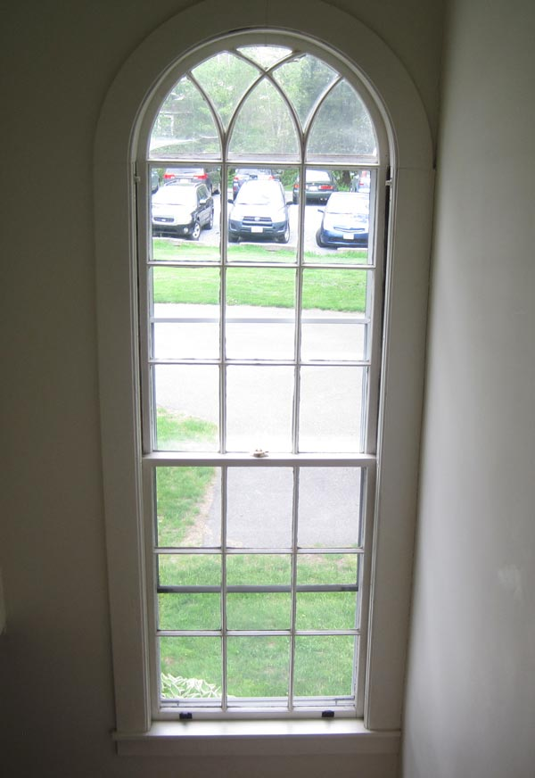 Milton Academy interior vertical window