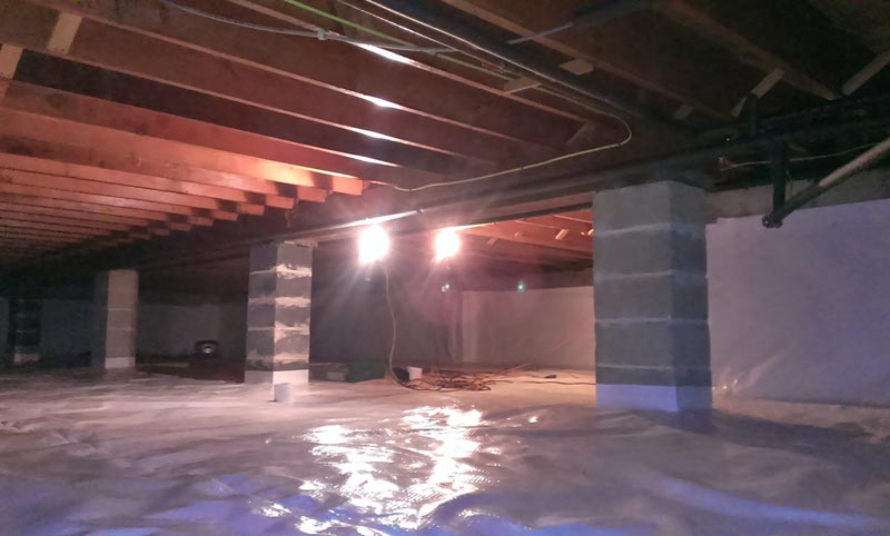 St. Anne's lighted crawlspace